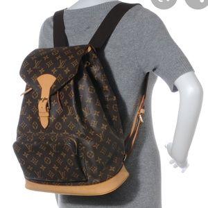 Authentic Louis Vuitton Montsouris GM Backpack